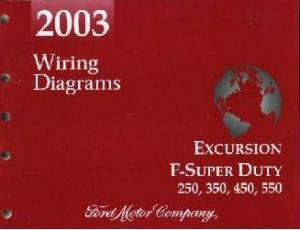 2003 Ford Excursion, F250, F350, F450, F550 & FSuper Duty Truck  Wiring Diagrams
