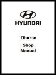 2001 Hyundai Tiburon Factory Shop Manual
