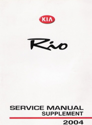 2004 Kia Rio Factory Service Manual Supplement