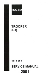 2000 Isuzu Trooper Factory Service Manual