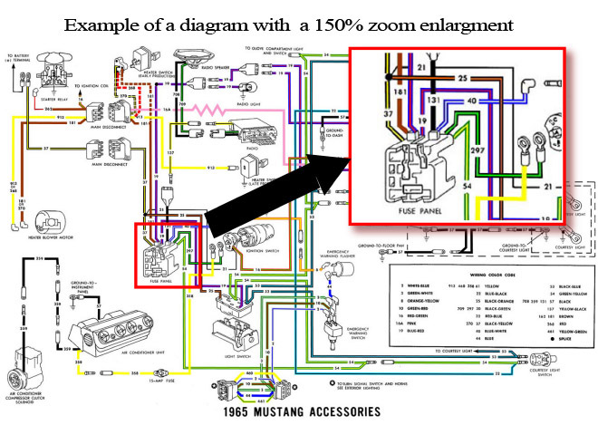 1965 Ford Mustang Colorized Wiring Diagrams CD ROM