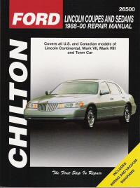 1988  2000 Lincoln Coupes & Sedans Chilton's Total Car Care Manual