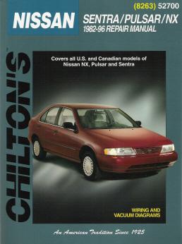 1982  1996 Nissan Sentra, Pulsar, NX, Chilton's Total Car