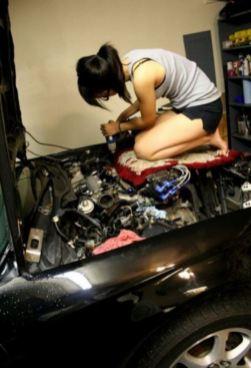 fille sexy mecanique