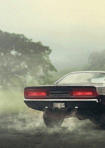 Echappement voiture américaine