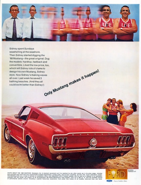 1968 Ford Mustang advertisement. (04/16/09)
