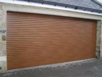 Insulated Golden Oak Roller Garage Door | Autoroll