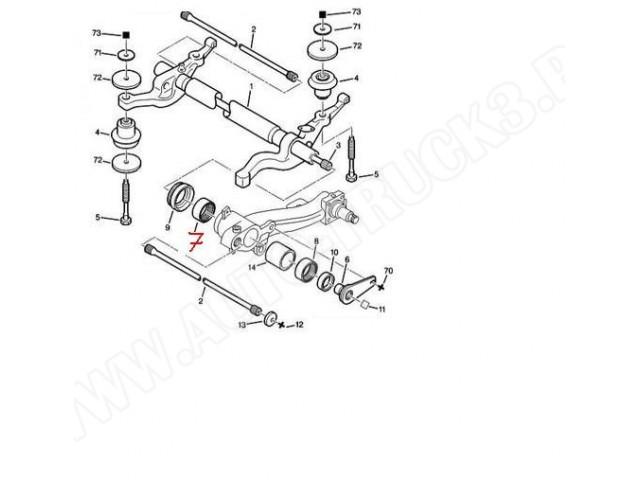 Łożysko igiełkowe belki tylnego zawieszenia Citroen, Peugeot