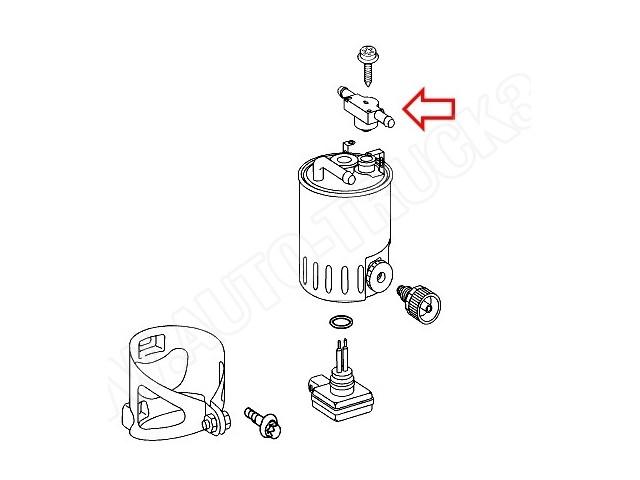 Zawór zwrotny filtra paliwa Mercedes CDI Sprinter,Vito 638