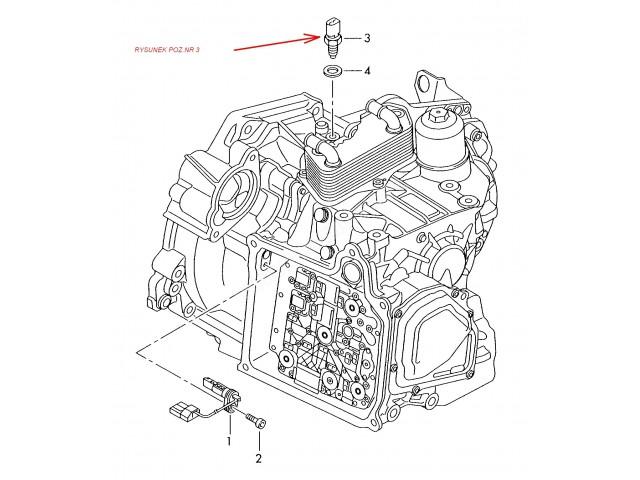 Włącznik świateł cofania Audi, VW, Seat, Ford, Skoda Octavia