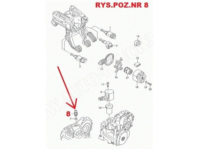 Włącznik świateł cofania Audi A3, VW Golf IV, Skoda Octavia