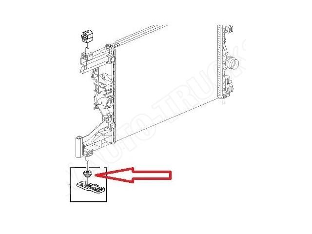 Poduszka dolna mocowania chłodnicy Opel Astra, Corsa