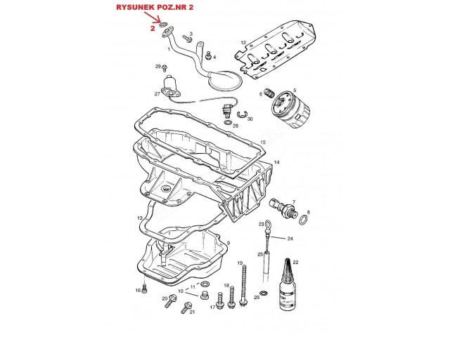 Oring uszczelniający rurę ssącą,pompę olejową Opel Agila