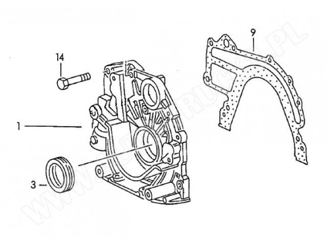 Uszczelka pompy oleju smarowania silnika AUDI 100,A6,VOLVO