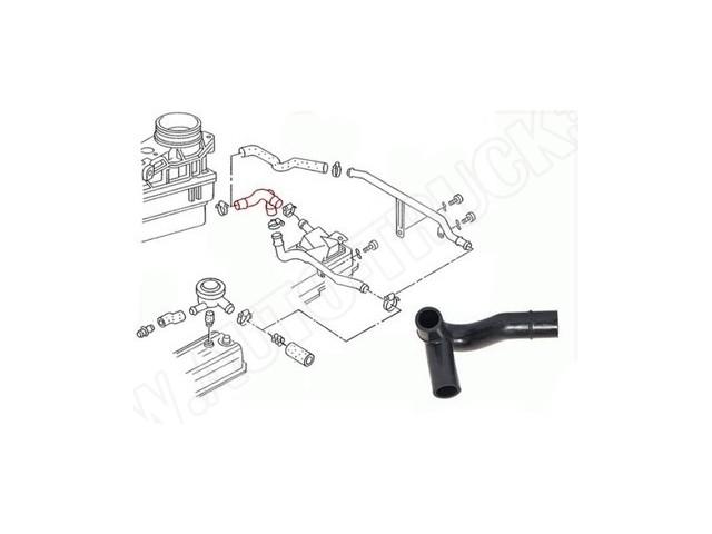 Przewód-wąż gumowy-trójnik- odma odpowietrzająca silnika