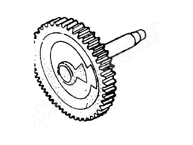 Koło zębate duże silnika wycieraczek szyby przedniej Skoda