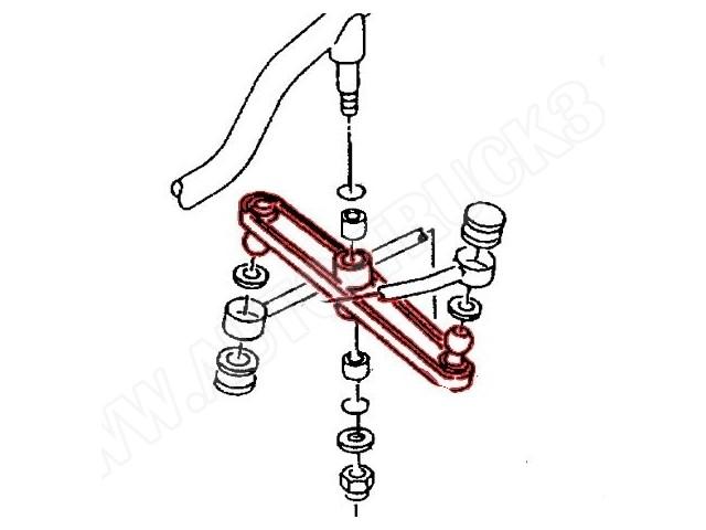 Cięgno drążka zmiany biegów VW TRANSPORTER T4 91- 98