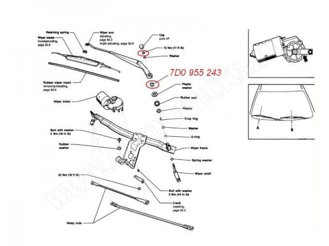 Nakrętka mocowania ramienia wycieraczki szyby przedniej i