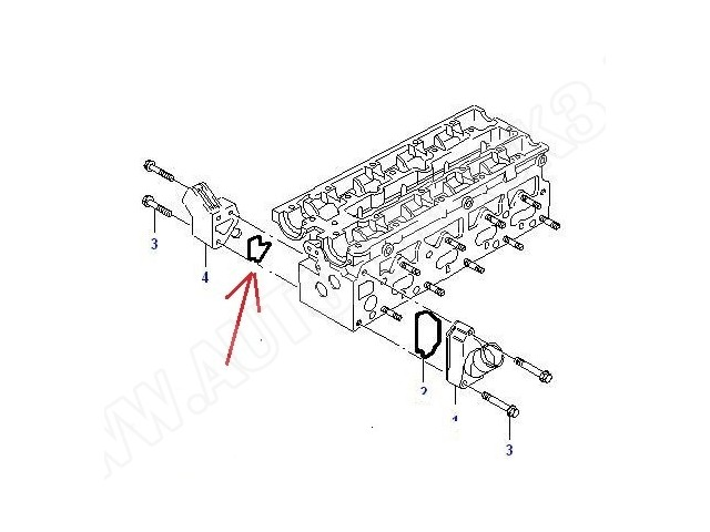 Uszczelka obudowy termostatu Opel Astra F,G,H,Calibra