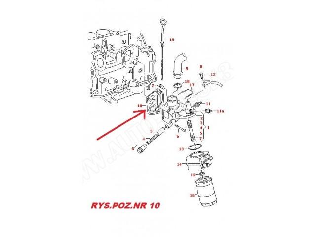 Uszczelka podstawy filtra oleju Audi...,Seat...,Skoda