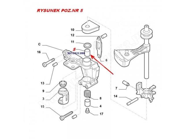 Łożysko wybieraka biegów w skrzyni BE4 Citroen Jumper,Fiat