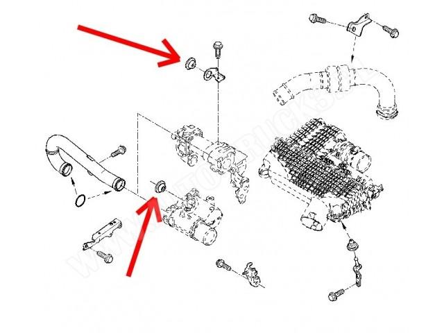 Poduszka mocowania obudowy filtra powietrza Renault Clio