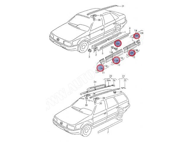 Spinka mocowania listwy progowej zewnętrznej Fiat Ulysse