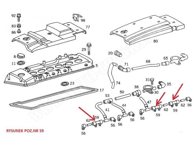PRZEWÓD ODMA SILNIKA MERCEDES 124/W210 3.0 Diesel