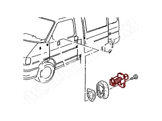 Włącznik drzwiowy Audi Coupe 80-88r,Seat Toledo I,VW