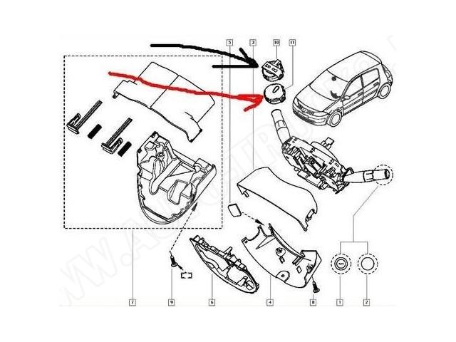 Czujnik deszczu-sensor Renault Clio III,Megane II,Modus