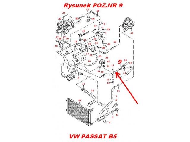 Przewód powrotny-rurka metalowa układu chłodzenia silnika