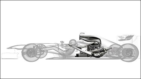 F1 Technique: Integrating the new V6 turbo hybrid engine