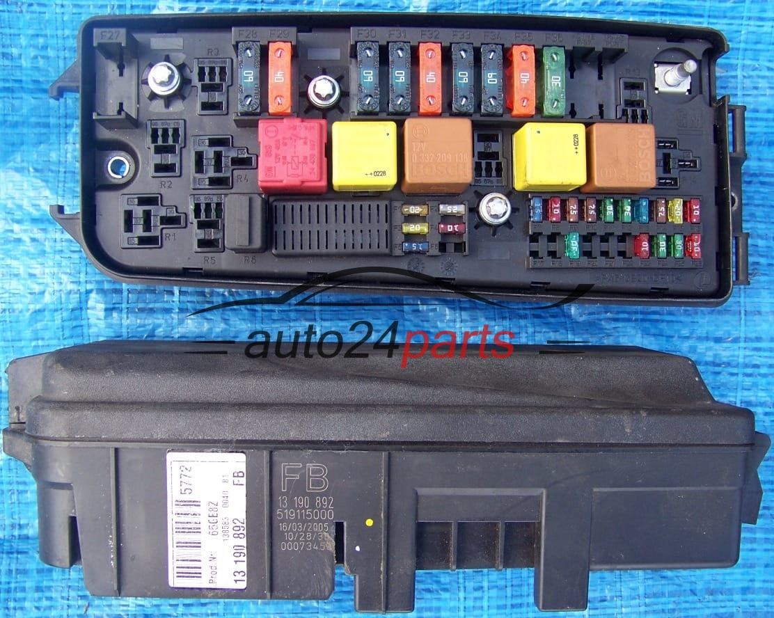 hight resolution of fuse relay box electrical comfort control module body opel chevrolet holden vauxhall vectra c signum 13190892 fb 13 190 892 519115000