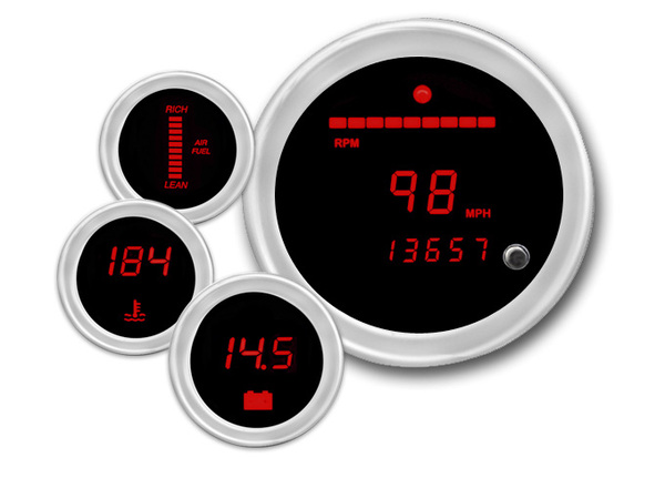 Cyberdyne Red Heat Digital Gauges