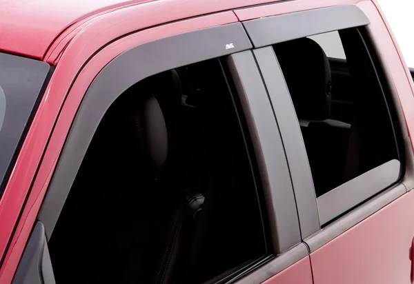 2014 2019 Chevy Silverado Avs Matte Black Seamless Window
