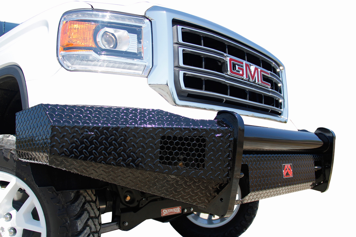 hight resolution of ford f350 fab fours black steel front bumper