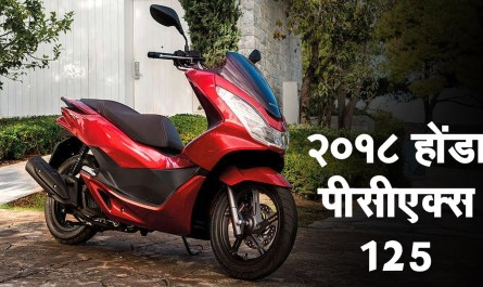 २०१८ होंडा पीसीएक्स125 (Honda PCX 125) स्कूटर रिवील्ड