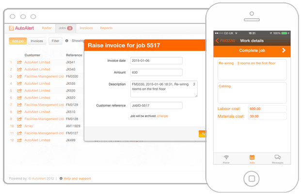 Raise invoices from your jobs