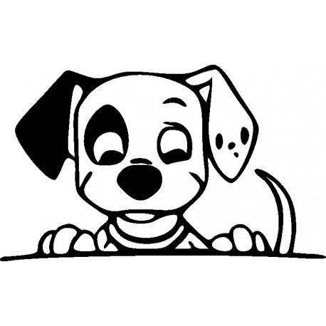Aufkleber fr Auto  Comic Hunde und Wolfaufkleber fr