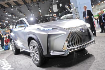 Feiert auf der IAA Weltpremiere – das Konzept-Fahrzeug Lexus LF-NX. Foto: Auto-Reporter.NET