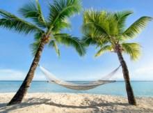 Urlaub am Palmenstrand in der Karibik mit Hängematte. Bildquelle: © eyetronic - Fotolia.com