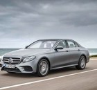 Mercedes-Benz E400 4 MATIC AMG Line; designo selenitgrau magno; Leder: Nappa sattelbraun / schwarz; DYNAMIC BODY CONTROL ;Kraftstoffverbrauch kombiniert: 7,7 l/100 km; CO2-Emissionen kombiniert: 174 g/km* Mercedes-Benz E400 4MATIC AMG Line; designo selenite grey magno; Leather: nappa saddle brown / black; DYNAMIC BODY CONTROL;Fuel consumption, combined: 7.7 l/100 km; CO2 emissions, combined: 174 g/km* Bildquelle: Mercedes-Benz