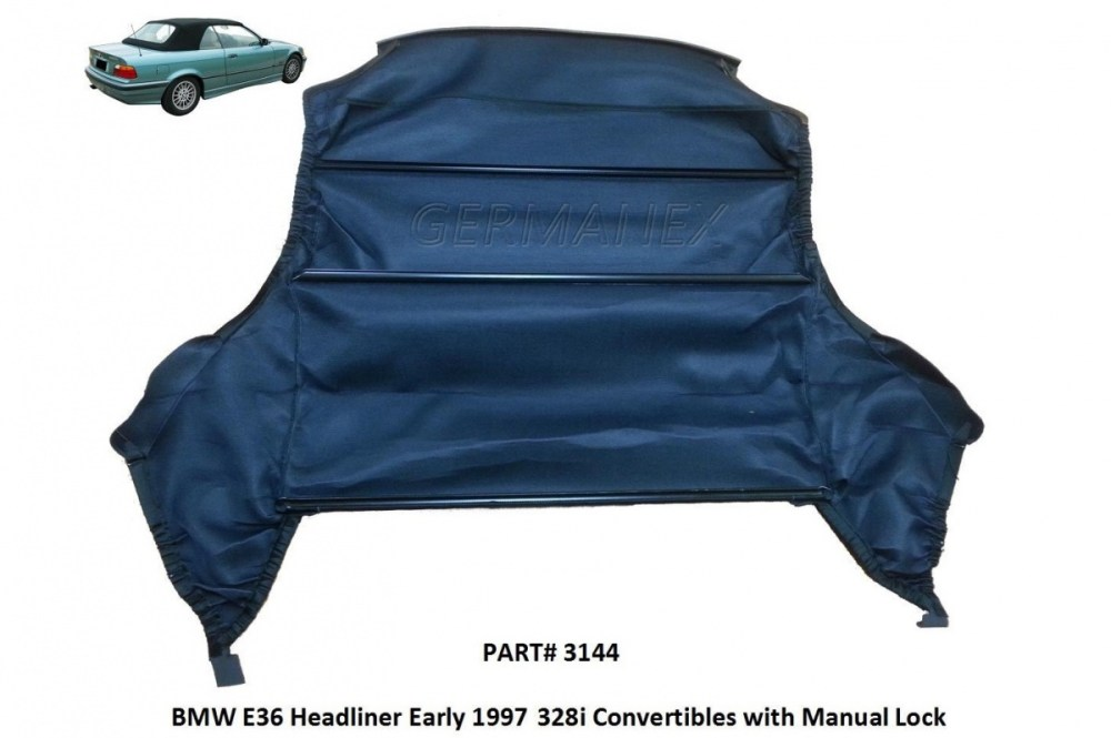 medium resolution of bmw e36 94 99 convertible top headliner 318i 323i 325i 328i m3