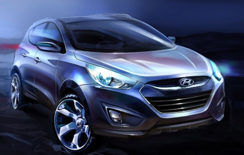 Hyundai ix35 official renderings teasers