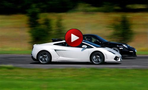 Lamborghini LP560-4 vs Porsche 997 GT2