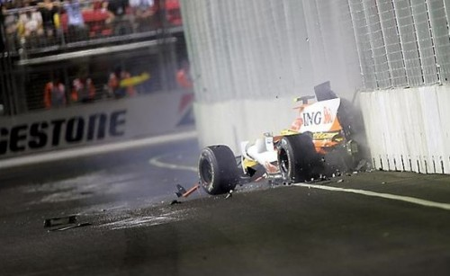 Nelson Piquet singapore crash