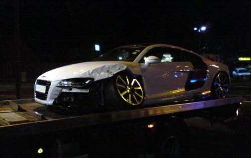 Audi MTM R8R crash