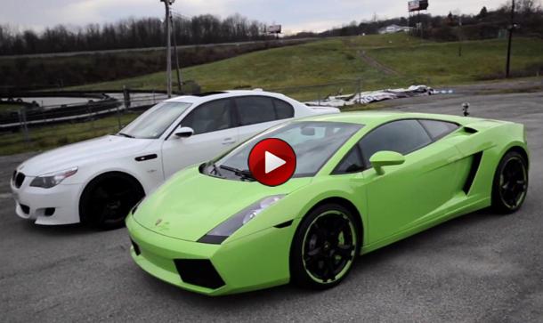 Video: BMW M5 Vs Lamborghini Gallardo - Autoblog.gr Lamborghini Vs Bmw
