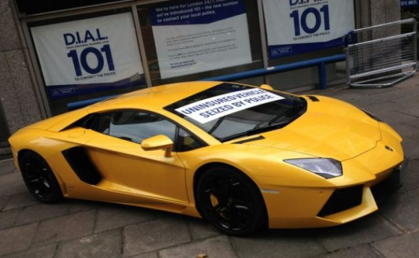 10 Supercars Seized by British Police