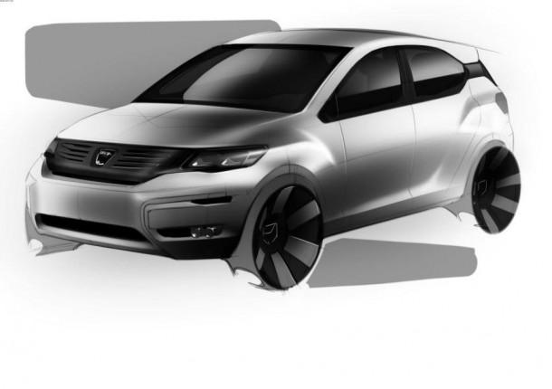 Dacia Logan II, Sandero II, Sandero II Stepway sketches (2)